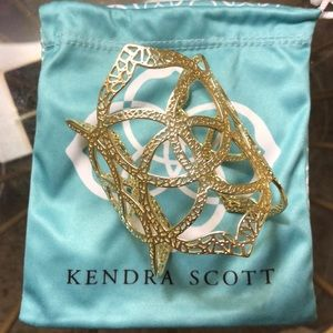 Kendra Scott gold Roni cuff bracelet